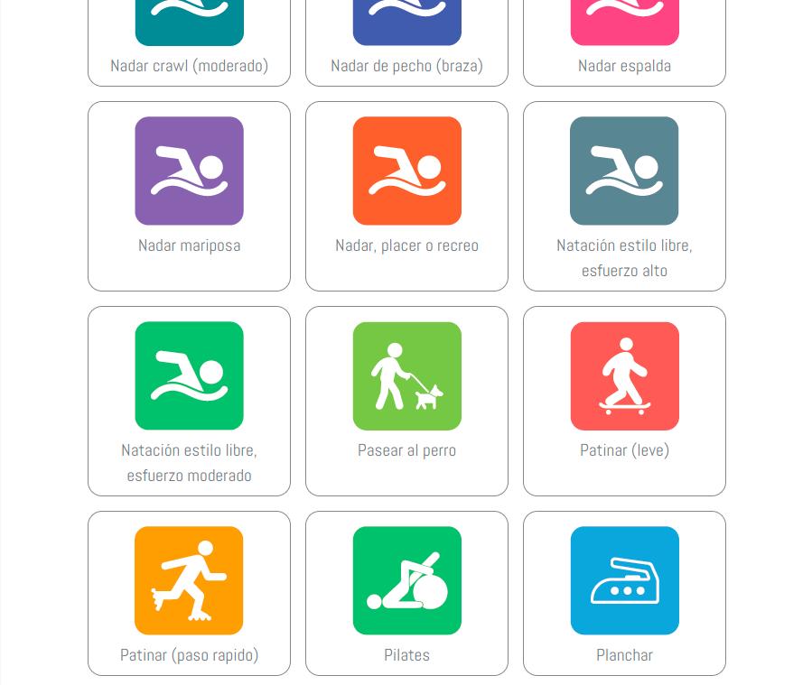 Ejemplos de actividades en la app de EDPmadrid
