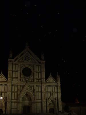 星降る夜のサンタクローチェ教会