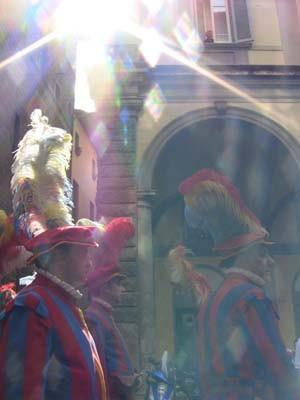 奇跡的な一枚。光降り注ぐ中世のフィレンツェです。