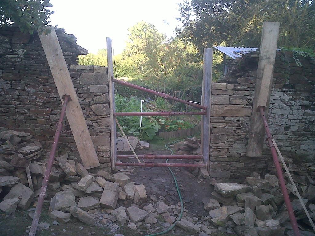 ouverture mur de clôture
