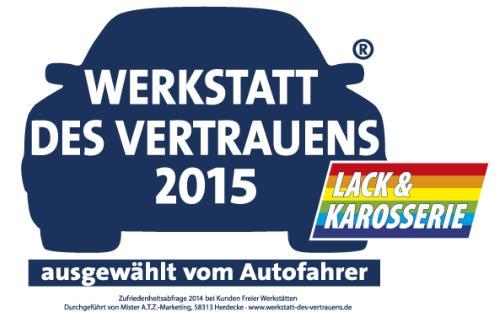 Werkstatt des Vertrauens 2015 -  Autolackiererei Streng GmbH