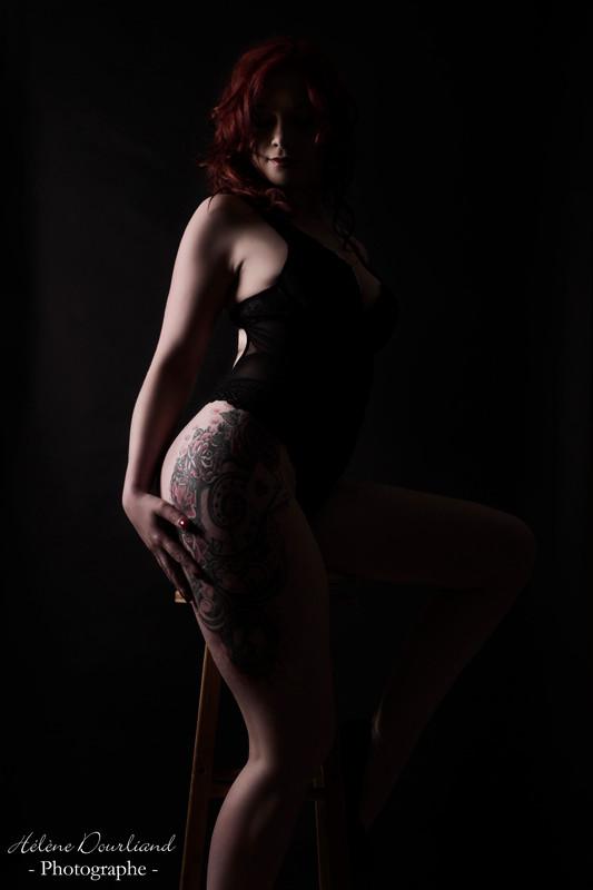 Shooting photo lingerie en studio en Yvelines
