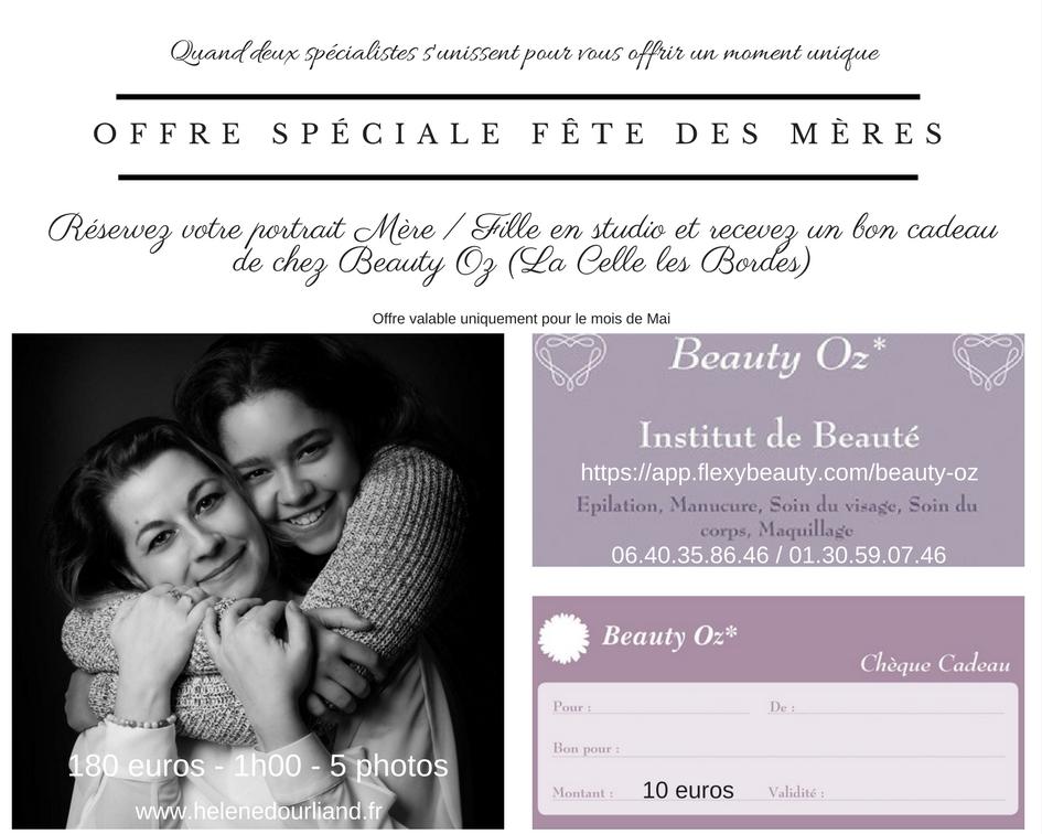 tarif spécial fête des Mères pour un portrait mère et fille