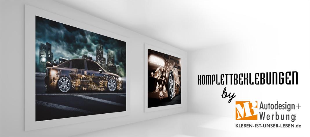 Komplett beklebungen von Fahrzeugen mit farbiger Folie oder Digitaldruck