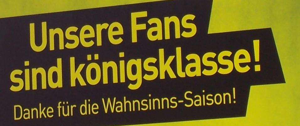 Dank an die besten Fans der Welt