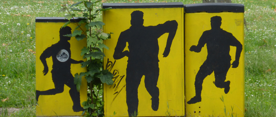 Schwarz gelbe Borussen Kunst Borsigplatz