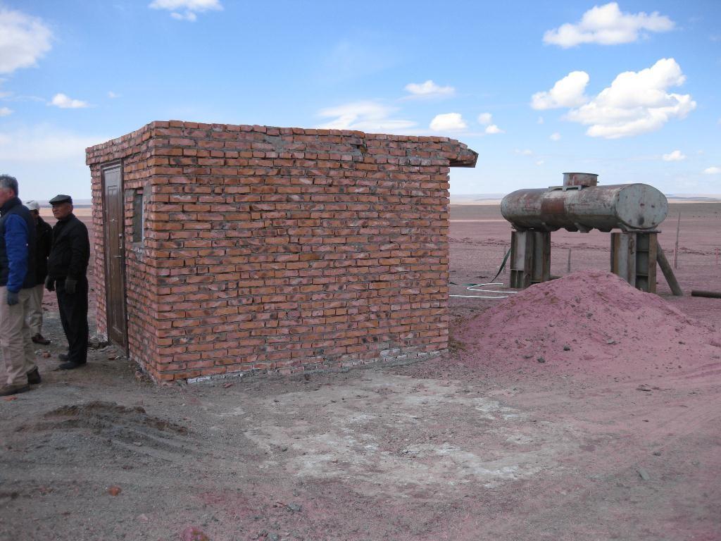 植林用の井戸