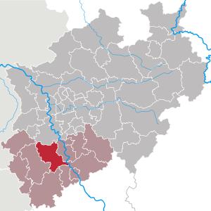 Lage des Erftkreises zum gesamten Bundesgebietes