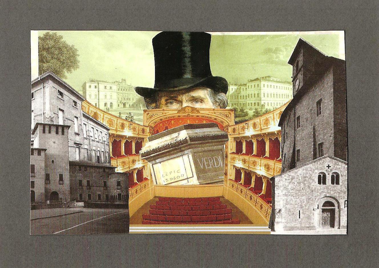 BUSSETO    Collage auf Papier - 20 x 15 cm