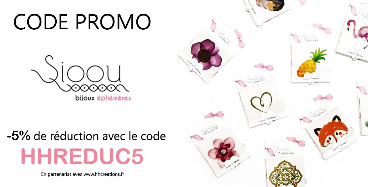 Code Promo tattoos Sioou