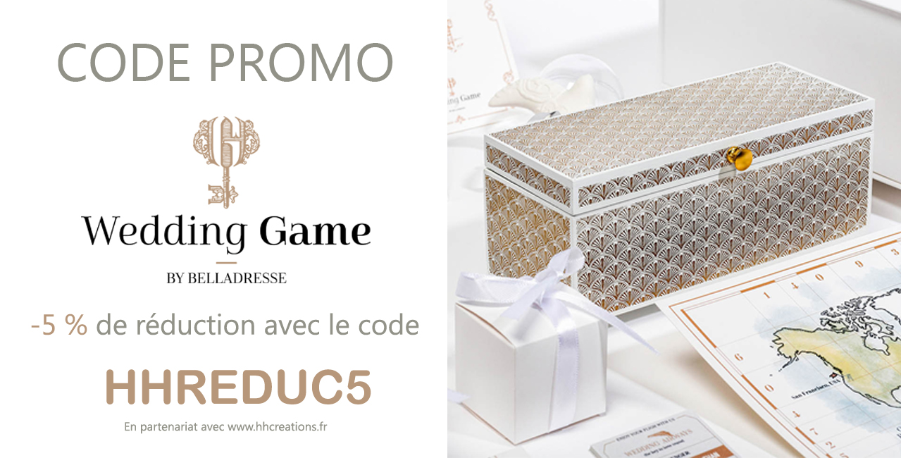 Code Promo Wedding Game - L'Escape Game de votre Mariage