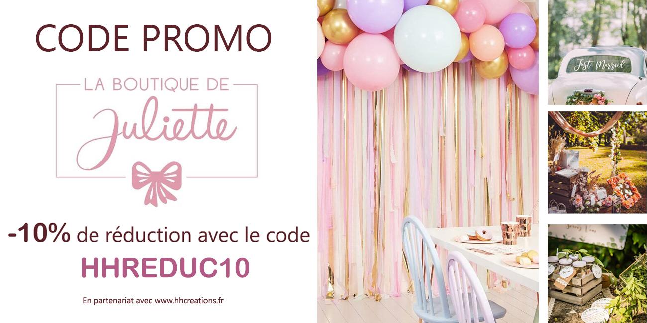 Code Promo : La Boutique de Juliette