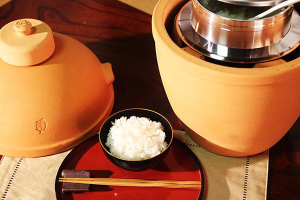 小田式ミニ蒸しかまど大・赤焼き 美味しく炊けた!