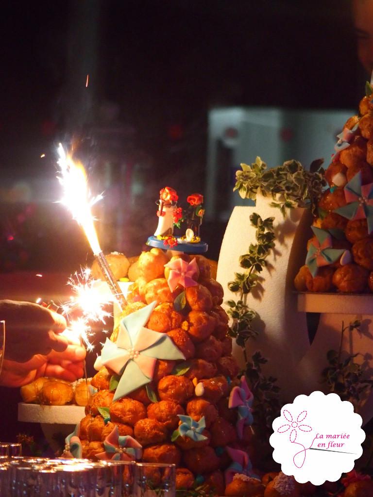 Moulins à vent pâte à sucre pour gateau de mariage, couple de plongeurs cake topper
