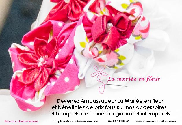 Devenez Ambassadeur La mariée en fleur et bénéficiez de prix fous sur nos accessoires et bouquets de mariée originaux et intemporels