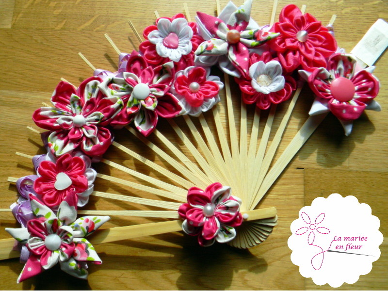 Collection delphine bouquet original ventail framboise bouquets et access - Idee bouquet de mariee original ...