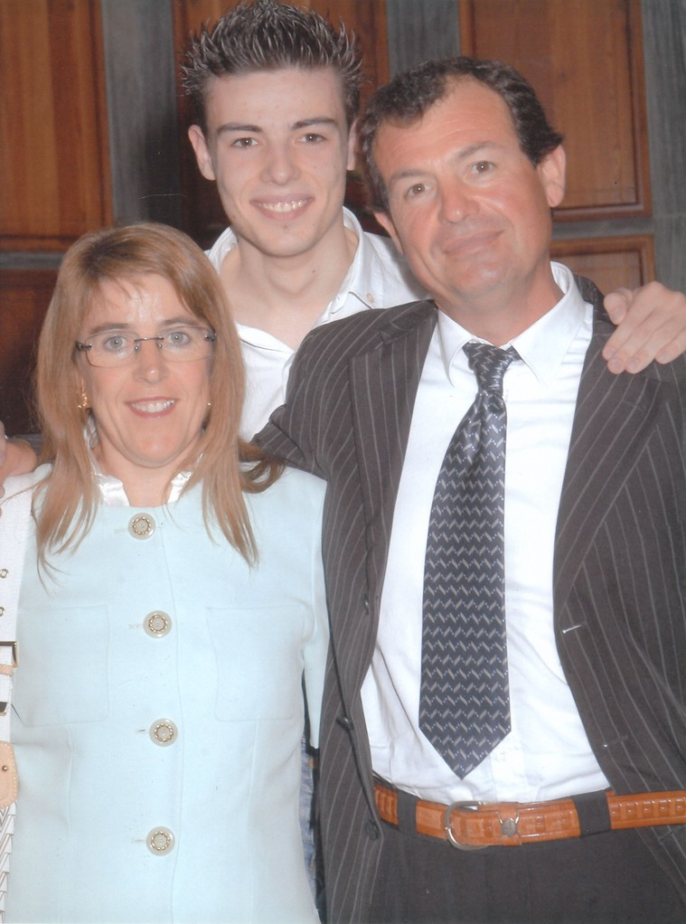 La Famiglia: da sinistra Patrizia, Giacomo, Luigi