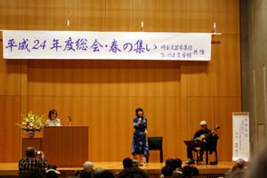 歌・西山琴恵さん、ギター・中村ヨシミツさんによるミニコンサート