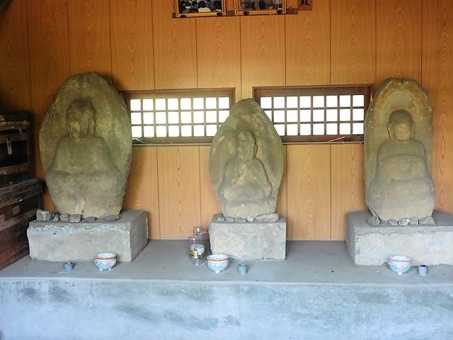 薬師如来・阿弥陀如来・地蔵菩薩(馬庭薬師堂)