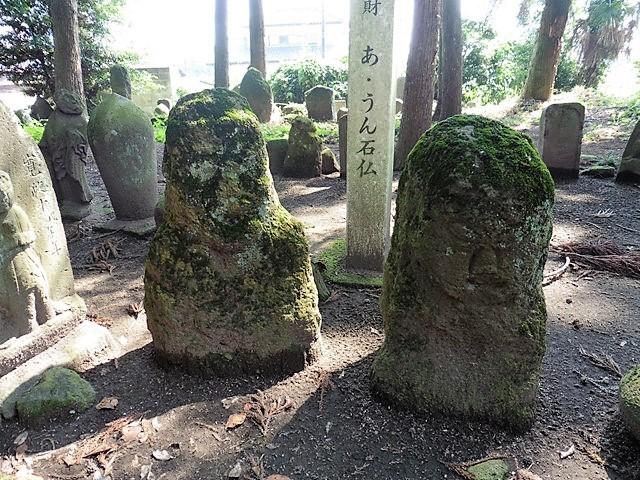 馬場稲荷神社の あ・うん石仏