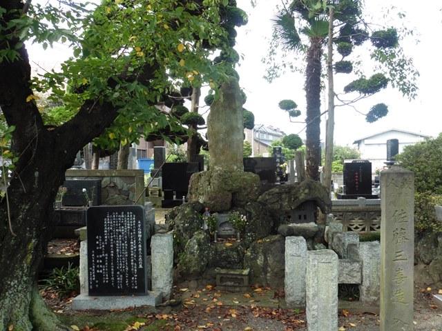 義民・佐藤三喜蔵の墓(普門寺)