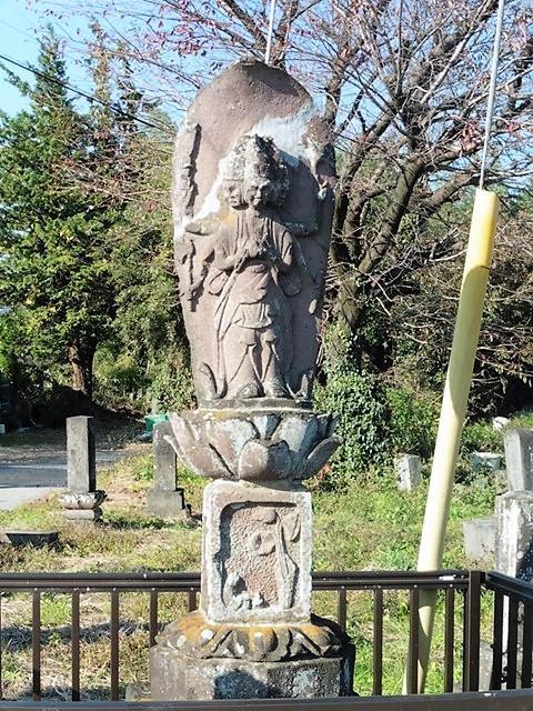 石造馬頭観音立像(前橋市粕川町)