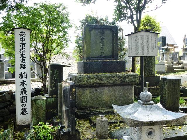 柏木義圓の墓(西廣寺)