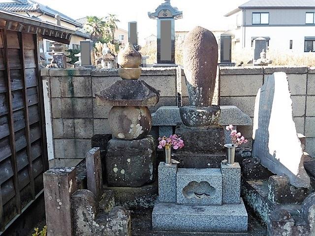長谷川長源夫妻の墓(祖師堂)