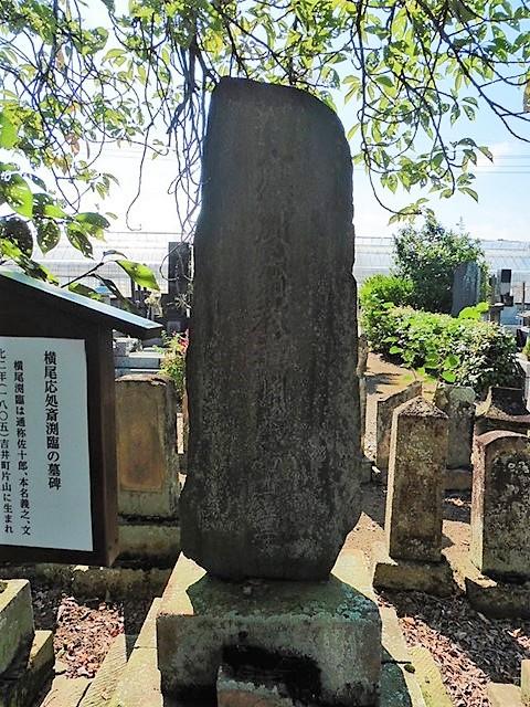 応処斎渕臨の墓(高崎市吉井町)