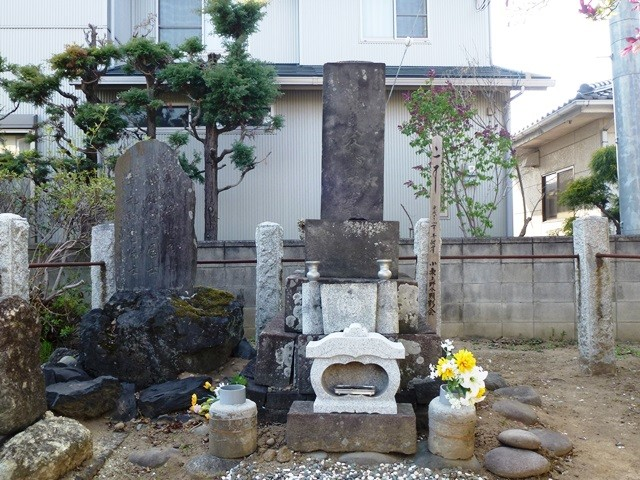 小栗又一の墓(高崎市下斉田町)