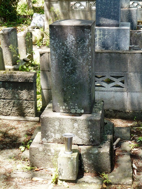 小野栄重の墓(南窓寺)