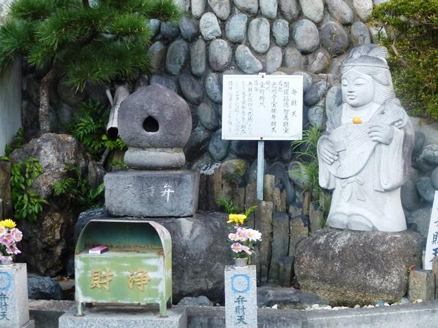 桐生・光明寺の宝珠型弁財天(左)