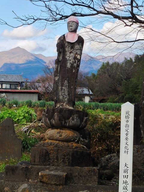 大前田の地蔵菩薩石像(前橋市)