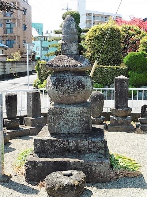和尚六部の墓(前橋市古市町公民館)
