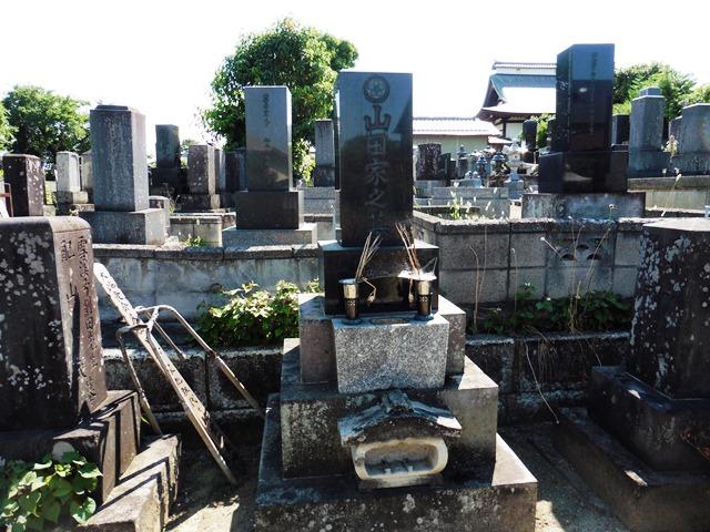 山田三川の墓(龍昌寺)