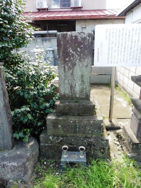 栗庵似鳩の墓(伊勢崎市上蓮町)
