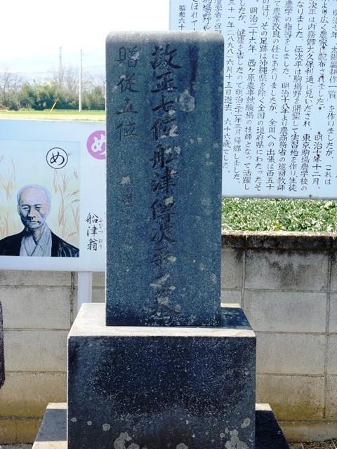 船津傳次平の墓