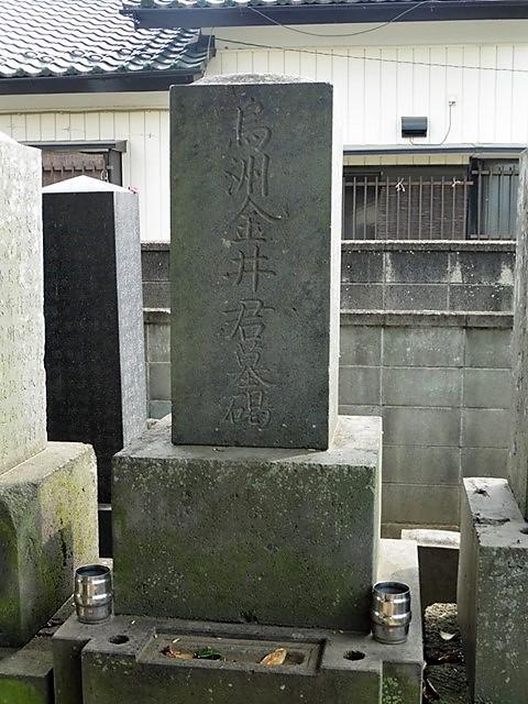 金井烏洲の墓(伊勢崎市境島村)