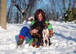 Bryttyny, Bimba e l'allevatrice Jessika. Giochi sulla neve. 01.02.'10