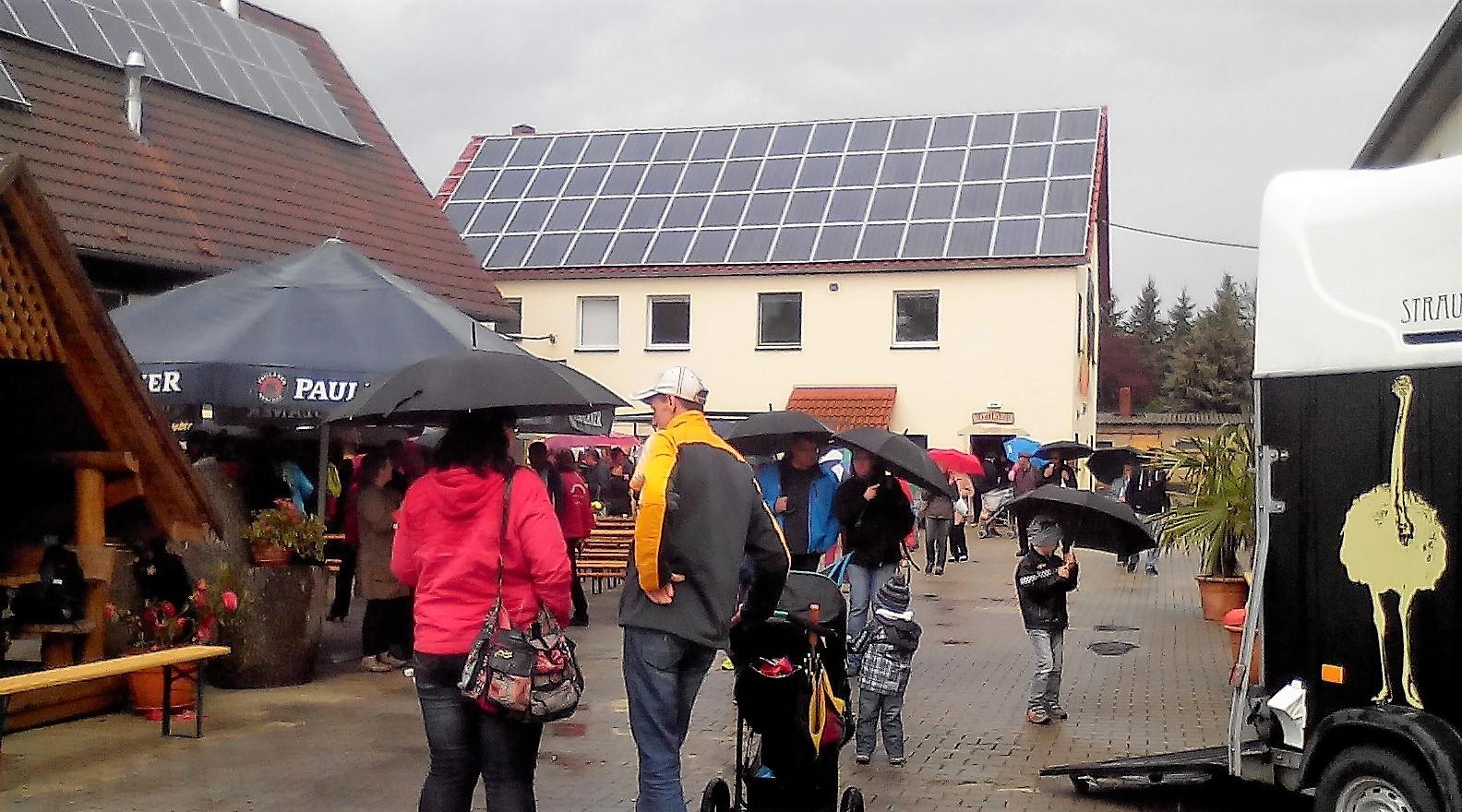 Trotz anfänglichem Sauwetter kamen die Leute