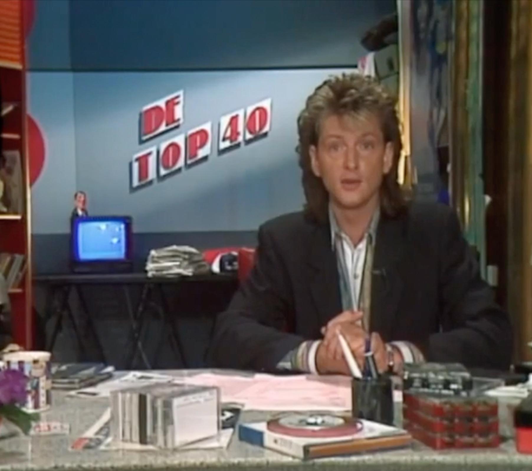 Erik de Zwart met de Top 40 op tv (Veronica)