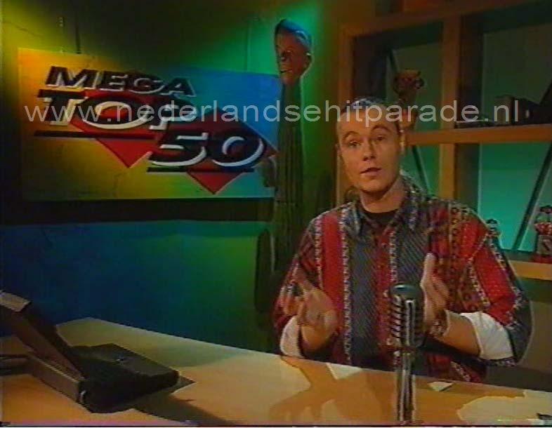 Gijs Staverman (allereerste Mega top 50 op tv 6 januari 1994)