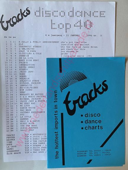 Disco dance top 40 11 januari 1992 radio grensland Roermond