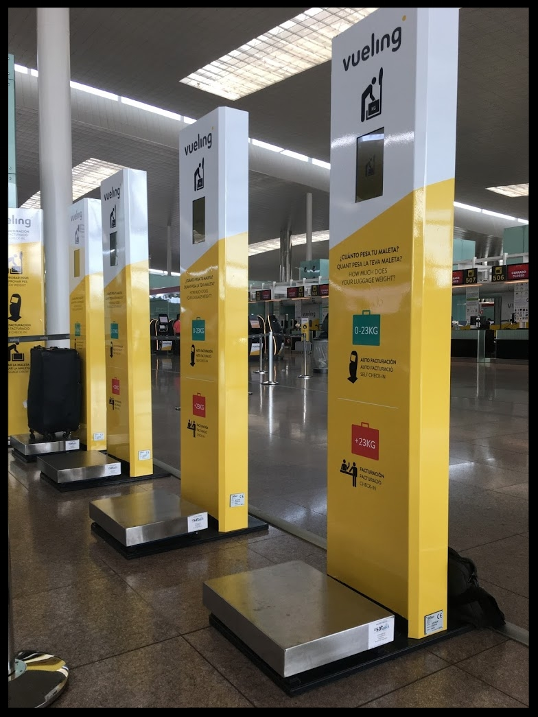 Bascula Pesa maletas aeropuerto