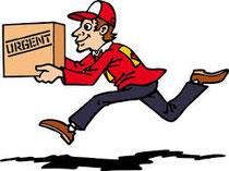 ritiro e consegna a domicilio tramite corriere SDA in tutti italia