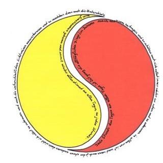Jede Stunde des Tages im Yin Yang Symbol_____von Karla Kalamees