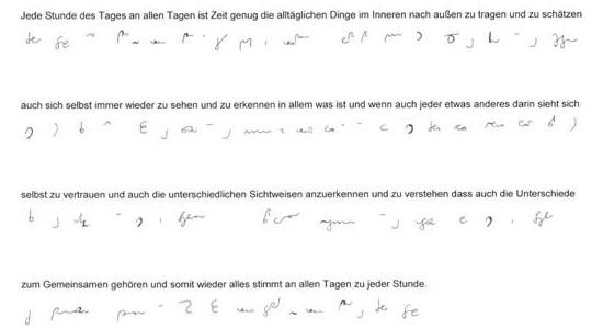 Jede Stunde des Tages in deutscher Stenografie_____von Karla Kalamees