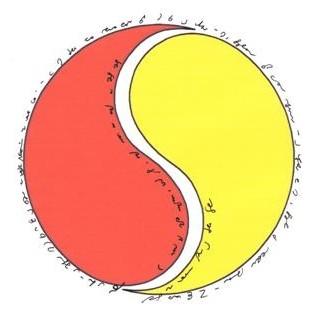 Jede Stunde des Tages in deutscher Stenografie im Yin Yang Symbol_____von Karla Kalamees