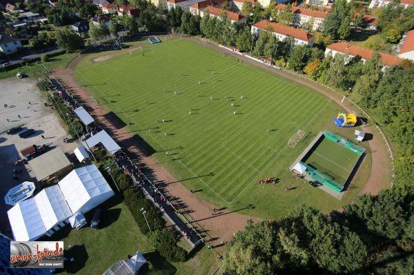 Das Stadion von oben