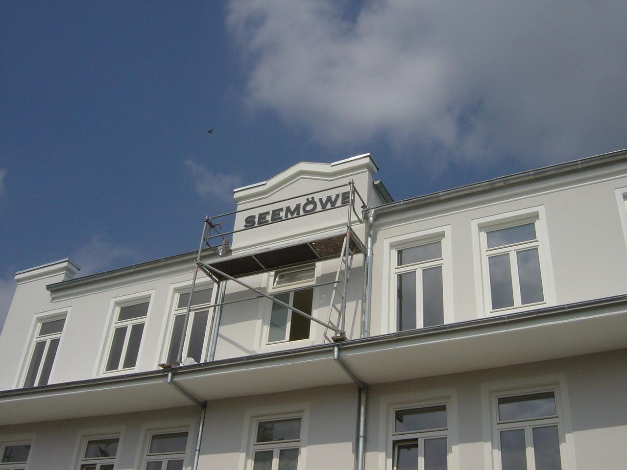 3-D Buchstaben für Hotel mit LED-Technik...